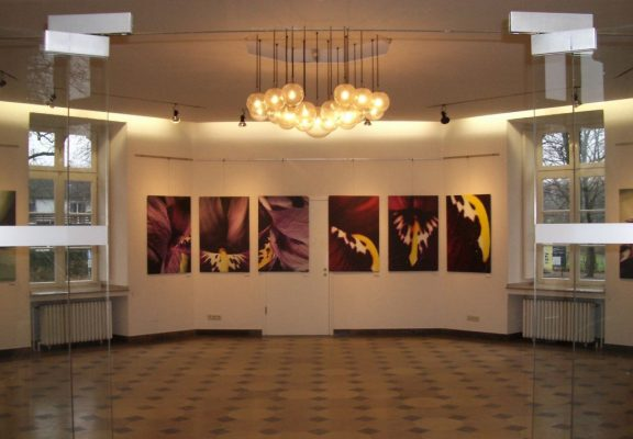 "Metarmorphose der Stoffe<br><span class=""untertitel"">Malerei / Fotografie<br>Schloss Greiffenhorst, Krefeld</span>"