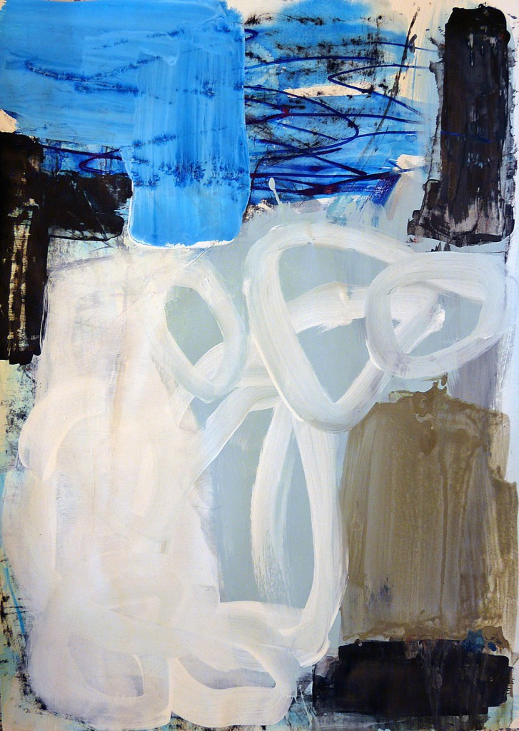 "Innenraum und Außenraum 3, 2011<br><span class=""untertitel"">Acryl / Papier<br>H 69 cm x B 50 cm</span>"