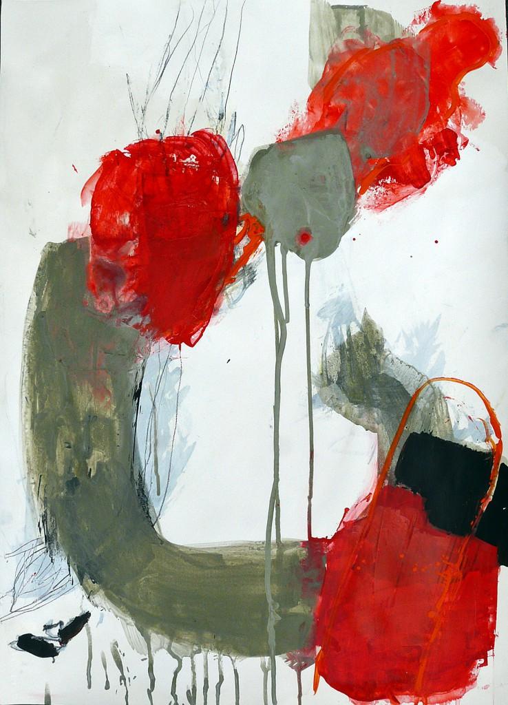 "Innenraum und Außenraum 1, 2011<br><span class=""untertitel"">Acryl / Papier<br>H 69 cm x B 50 cm</span>"